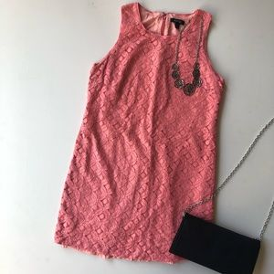 Apt. 9 lace coral shift dress women's petite small